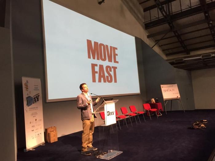 La foto condivisa dalla pagina pubblica di Sebastiano Zanolli (dall'Ecommerce Day di Torino) - Courtesy of Sebastiano Zanolli