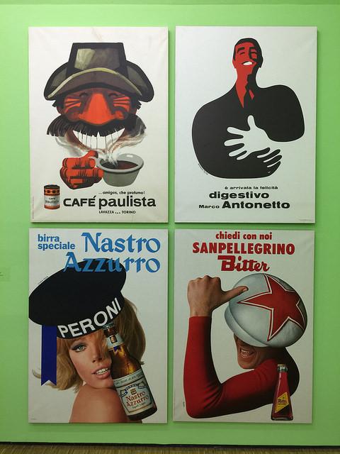 Alcuni famosi manifesti delle pubblicità (anni '50-'70)