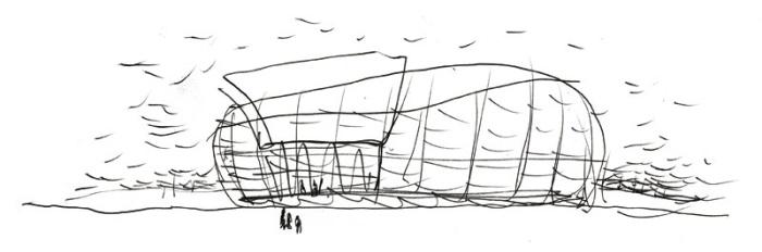 Bozzetto per l'Unicredit Pavilion - ©archivio Michele De Lucchi