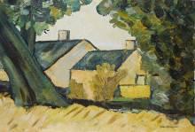 villaggio-di-campagna-olio-su-tavola-di-legno-50x35