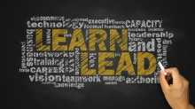 learn and lead word cloud with related tags